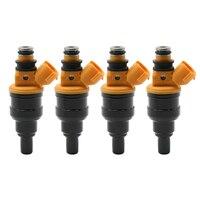 Bocal 2325002020 2320902020 do injetor de combustível de 4 pces para toyota avensis 23250-02020 23209-02020 0280150438