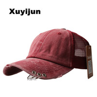 XUyijun Camouflage Mesh Cap Baseball Snapback Desert Camo Hat For Men Cap Hiphop God Pray Women