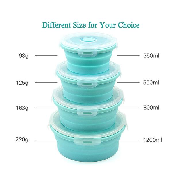 Round Silicone Lunch Box