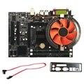 G41 настольная материнская плата для Intel Cpu набор с четырехъядерным процессором 2 66G Cpu E5430 + 4G память + вентилятор Atx компьютерная материнская пл...