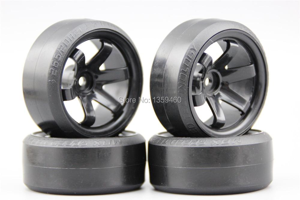 Pre Glued 4pcs Rc Cs R Drift Tires Tyre Wheel W6snk 9mm Offset