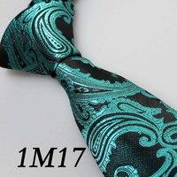 Men S Tie Border Indigo Black Paisley Necktie Gravata Fashionable Slim Skinny Tie For Men Groom