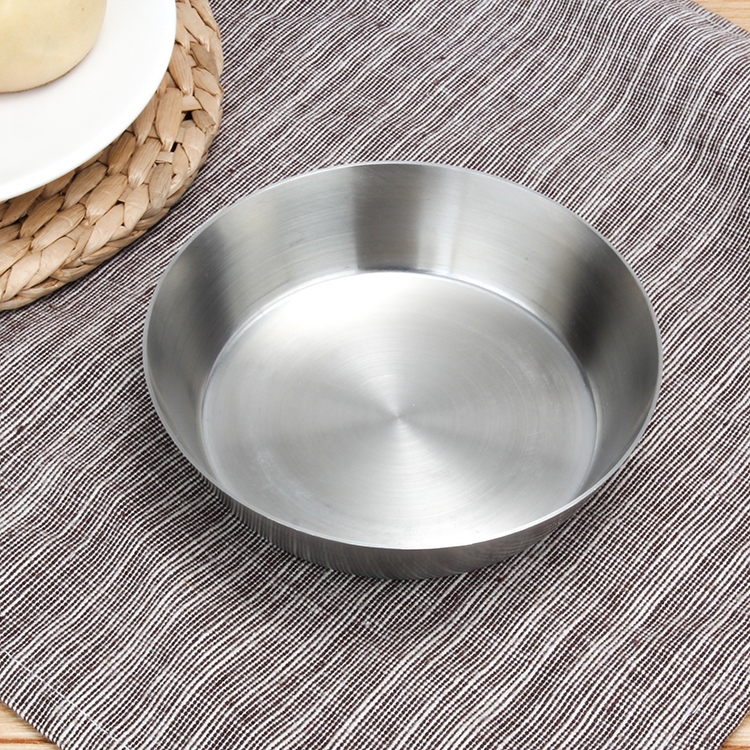 Thick Stainless Steel Plate Fruit Plate Tableware Picnic Dish Plate Simple Barbecue Heat-resistant Tableware Campcookingsupplies