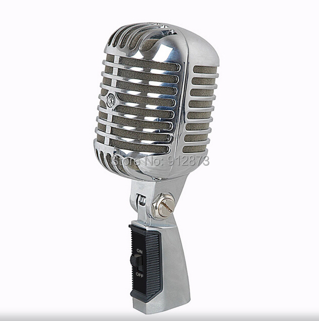 buy professional stage singing retro microphone dynamic retro mic vintage style. Black Bedroom Furniture Sets. Home Design Ideas