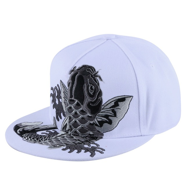men women brand snapback hat good quality embroidery carp fish butterfly  floral luxury hats girl boy hip hop baseball cap 0d171277313