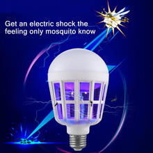 Mosquito Killer Lamp LED Buld 220V 15W Led Bug Zapper Lamp E27 Insect Mosquito Repeller Lighting Killing Fly Bug Night Light