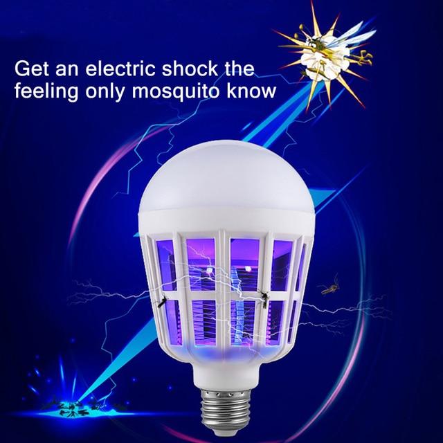 Mosquito Killer Lamp LED Buld 220V 15W Led Bug Zapper Lamp E27 Insect  Mosquito Repeller Lighting