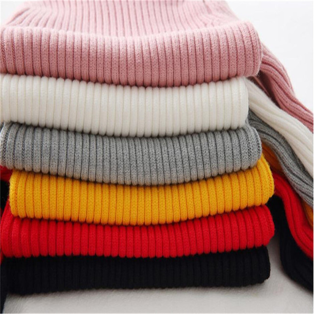 LILIGIRL Baby Girls Winter Turtleneck Sweater Colthes 2018 Autumn Boys Children Clothing Pullover Knitted Solid Kids Sweaters 1