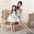 2016 Sweet princess dress TongPengPeng flower children dance performance mum and daughter party birthday dress