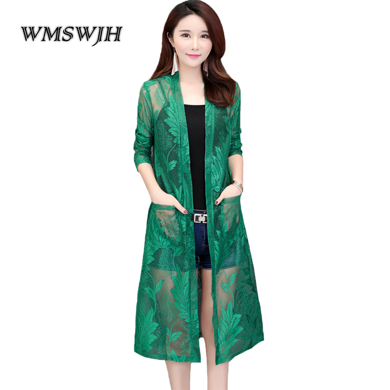 Fashion Coat Jacket Cardigan Clothing Women Summer Section Net Long Tops Shawl Yarn Wild