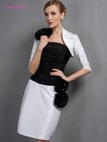 Black 2018 Mother Of The Bride Dresses Sheath Taffeta With Jacket Plus Size Short Elegant Groom