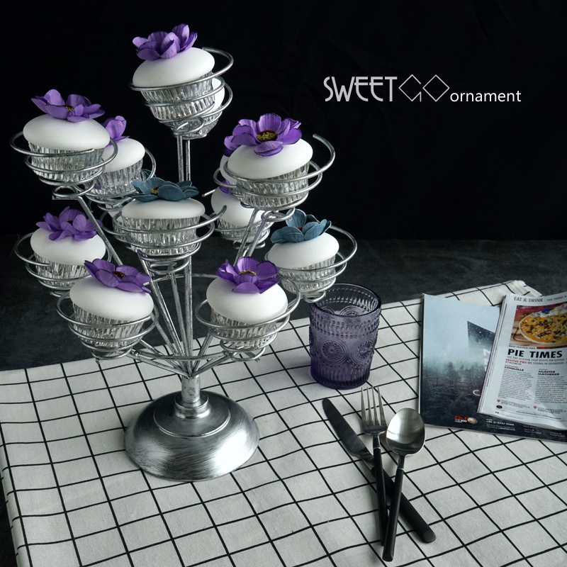 SWEETGO Cupcake stand 13 heads for wedding party cake decorating tools table decoration party supplier bakeware