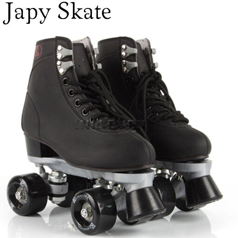 Japy Skate 2016 Double Roller Skates Reniaever Skate Two Line Patins Unisex Patines Adulto Black Adult Skating Shoes skate 2015 patins patins adulto reniaever