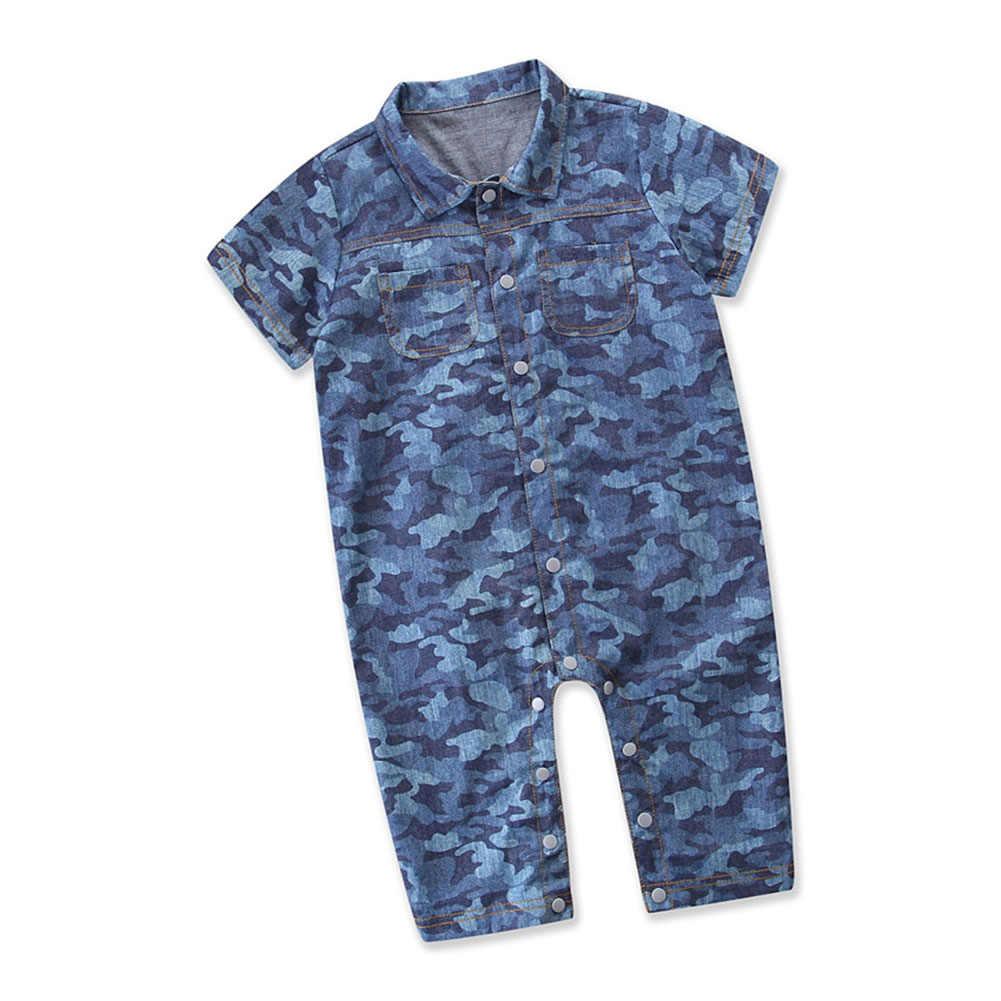 Baby Baby Jongens Meisjes Camouflage Denim Jumpers Romper Kleding Outfit