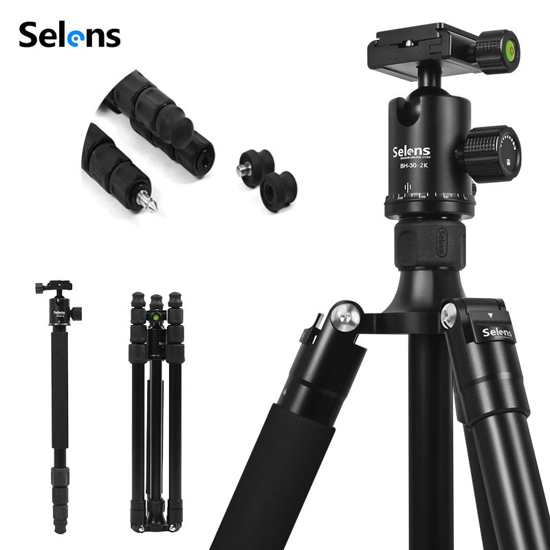цена на Selens TA-462 180 Degrees Professional carbon fiber tripod for digital camera tripode Suitable Top quality series camera stand