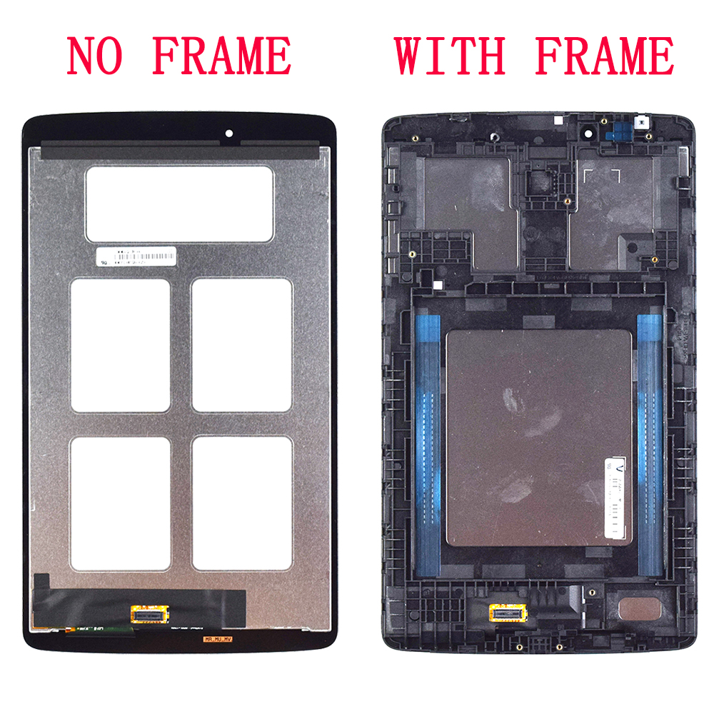 Para LG G Pad 8,0 V480 V490 pantalla LCD matriz pantalla táctil digitalizador Panel Sensor de vidrio Tablet montaje reemplazo con marco - 2