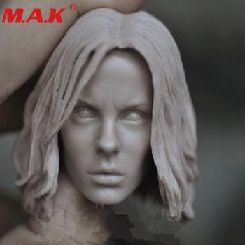 1/6 scale female head sculpt girl Selena Katee Beckinsale headplay Unpainted white DIY sculpture for 12 inches figure body
