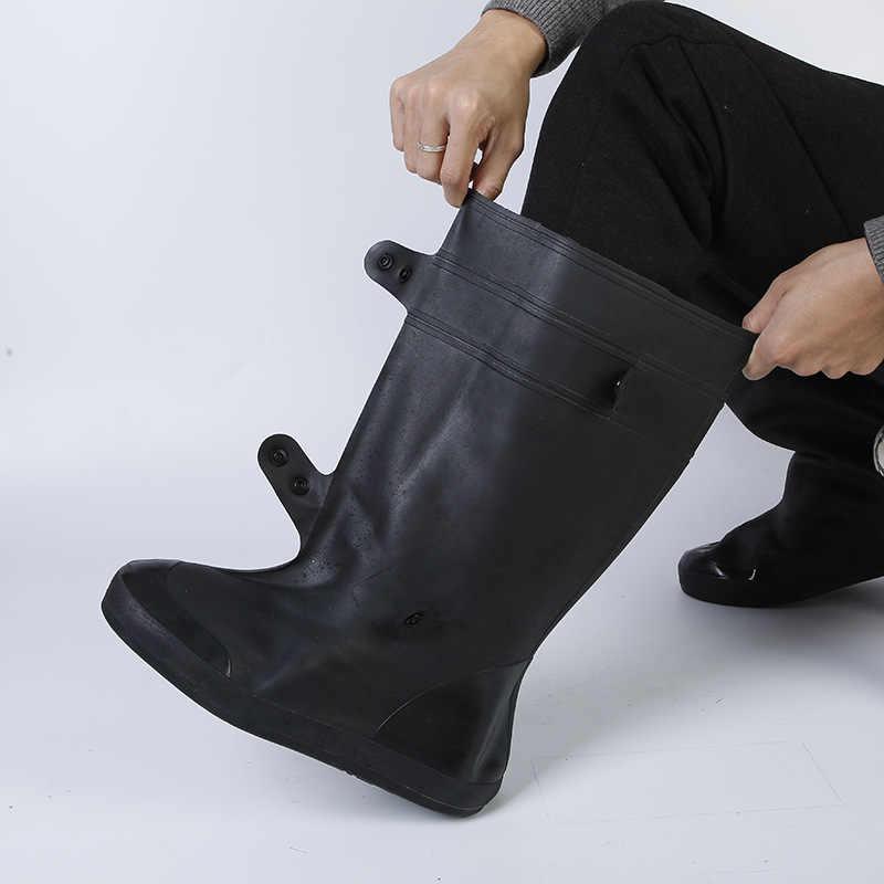 Aleafalling zapatos de ciclismo cubierta impermeable y resistente a la nieve Botas de lluvia negro fundas de calzado reutilizables hombres mujeres Covershoes botas
