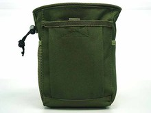Outdoor Sport Military Tactical Airsoft Paintball Hunting Folding Mag Recovery Dump Pouch Molle Loop and Hook