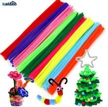 100 pçs 30cm colorido chenille hastes pipe cleaners crianças brinquedos festa de aniversário natal decorações artes diy artesanato suprimentos