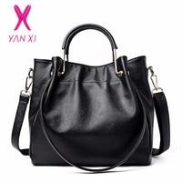 YANXI New Luxury Crossbody Shoulderbag Fashion PU Leather High Quality Retro Messenger Ladies Bags Handbags Women