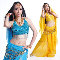 5 Flowers Design Bra Skirt Design Bollywood Indian Belly Dance Outfits Costumes 10 Colors Dancing Suits