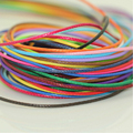 100meters (10colors x10Meters) 1mm Multi Color Polyester Korean wax cord Cords,Ropes,DIY Jewelry Accessory Free Shipping