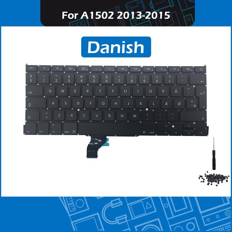 New A1502 Keyboard Nordic DK Danish Layout for font b Macbook b font Pro Retina 13