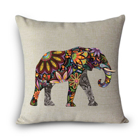 Flower elephant printed dining chair cushion cover 45x45cm car seat cushion covers Home decorative pillows for sofa MYJ-A7