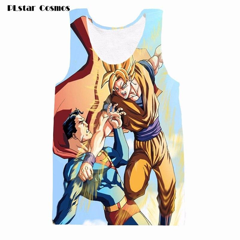 b2902cbb594c Goku fighting with superman tanks tees men women hipster 3d t shirt tank  top anime dragon ball tank tops sleeveless tshirts vest