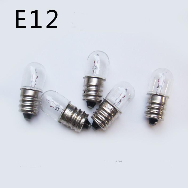 E12 Indicator Light Bulb 18v 24v 28v 0 11a 30v 2w Small 12mm Lamp Bead For Machine Tool Equipment Vessel Lighting 50pcs In Lights From