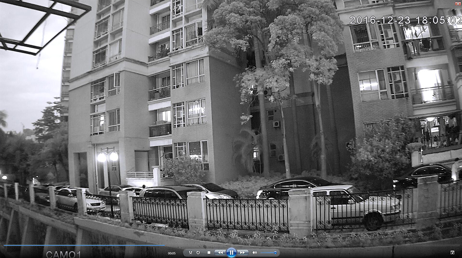 Real Image For 1080P IP Camera Outdoor-Night