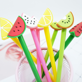 4pcs/ lot Creative Watermelon fruit neutral pen stationery kawaii school Office supplies Papelaria Canetas Escolar gel pen 5 pcs lot color gel pen kawaii super hero superman stationery canetas escolar papelaria gift office material school supplies