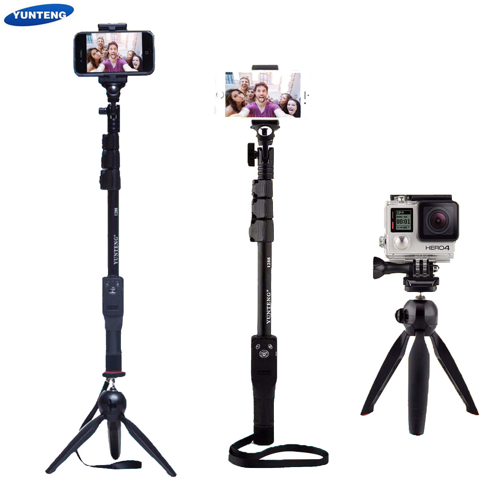Selfie Stick Tripod Extendable Monopod Pole Camera Telescopic Phone Bluetooth 1288 Yunteng