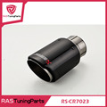 Carbon Fiber  Akrapovic Car Exhaust  Coated Stainless Steel Universal Exhaust Pipe Tip Tailtip Inlet 63MM Outlet 101mm RS-CR7023