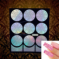 DIY Flash Holo Nail Art Stamping Template Nail Foil UV Gel Polish Airbrush Tools HNF318 Women Makeup Tip Nail Stamp Paste Paper