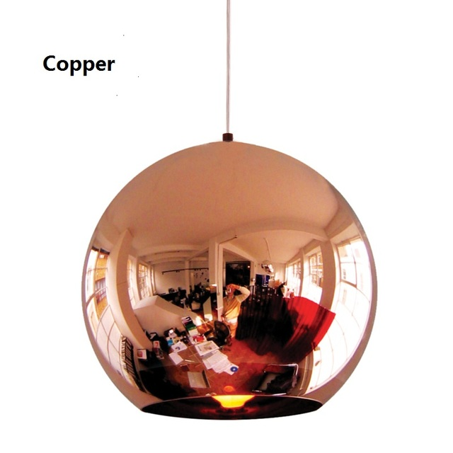 Modern replica of toms pendant lights copper glass mirror shade modern replica of toms pendant lights copper glass mirror shade ball plafondlamp for dinning room restaurant audiocablefo