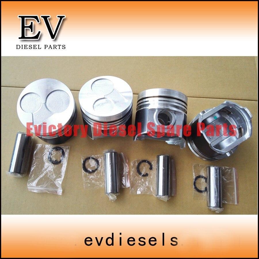 Le Piston V2203 comprend une goupille de piston et un clip de piston pour Kubota V2203