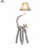 Led Floor Lamp Cartoon Animal Children's Room Bedroom Warm Headlamp Led Remote Control Dimming Floor Light Birthday Marry Gift