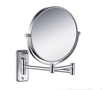 Free Shipping 8 Double Side Antique Bathroom Mirror 3x Magnification Copper Wall Mounted Makeup Mirror BM001
