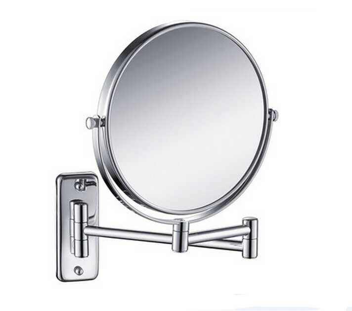 Free Shipping 8' double side antique bathroom mirror, 3x magnification copper wall mounted makeup mirror BM001 1 piece free shipping anodizing aluminium amplifiers black wall mounted distribution case 80x234x250mm