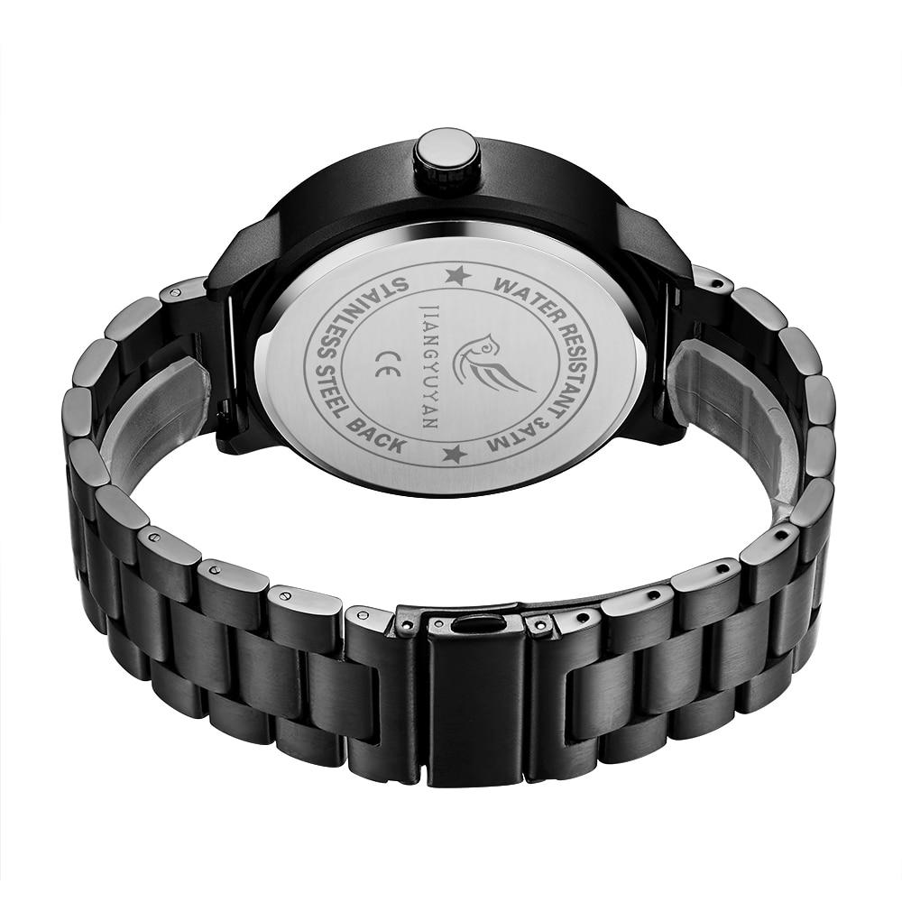 Reloj para hombre JIANGYUYAN Luxury Brand reloj creativo de acero - Relojes para hombres - foto 3