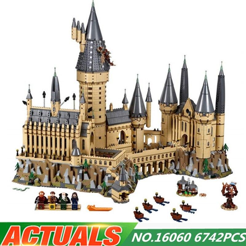 Харри фильм Поттер серии Hogwarting замок набор legoing 71043 модель diy здания Конструкторы игрушечные лошадки для детей рождественские подарки для де