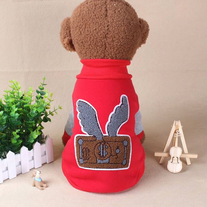wings Pattern Winter Warm Dog Coat jackets small dog clothes