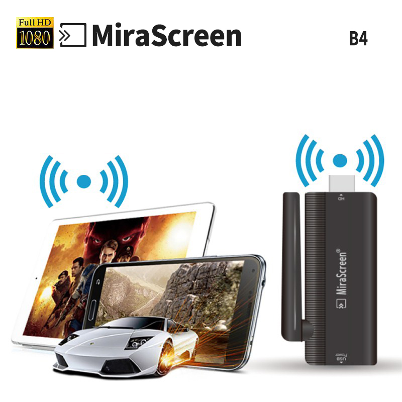 HDMI wifi display dongle Mirascreen B4 Adapter Mini pc Android TV stick Miracast Airplay support android/apple/tablet/computer