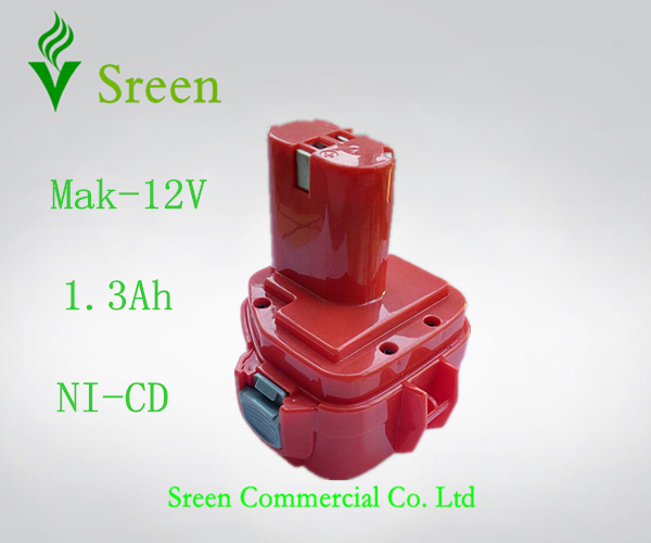Salut-Q Rechargeable 12 V NI-CD 1.3Ah Remplacement Batterie Packs pour Makita Power Tool Batterie PA12 1201 1222 1220 1235 1233 S 1233SB