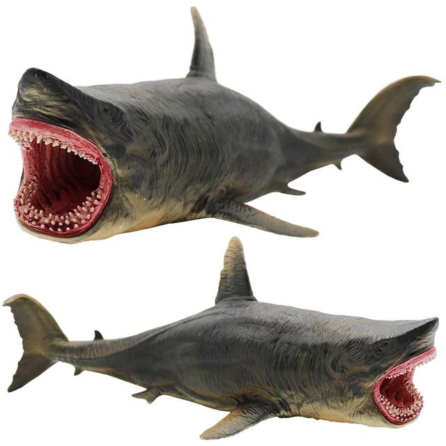 Sea Life Savage Megalodon Акула ПВХ Фигурки моделирование морской животные Коллекция цифры модели образовательных игрушек для детей