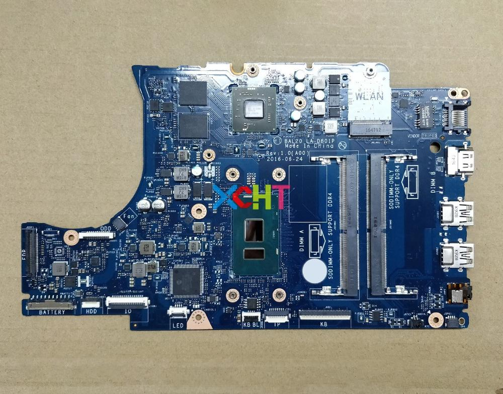 "for Dell Inspiron 15 5567 15.6"" KFWK9 CN 0KFWK9 BAL20 LA D801P REV:1.0(A00) i7 7500U DDR4 Laptop Motherboard Mainboard Tested-in Laptop Motherboard from Computer & Office"