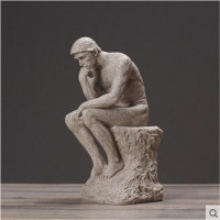 North Europe Style Thinker Effigies Home Decor Sandstone Character figurine Ornament Home Drawing Room Decoration artesanato