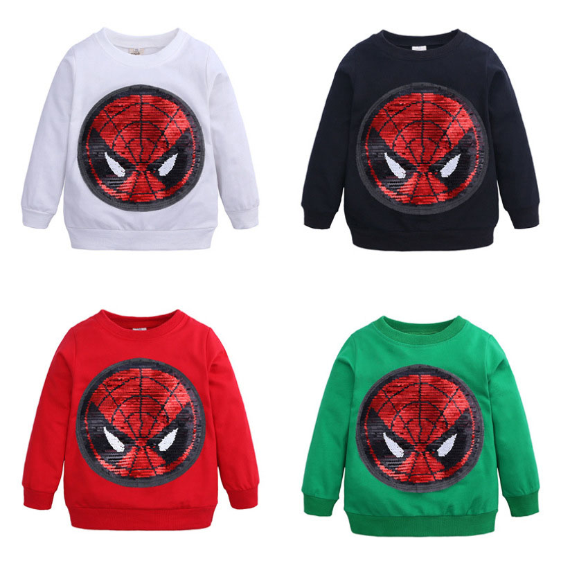 Spiderman Marvel Official Boys Long Sleeve 100/% Cotton Top Turtle Neck T-Shirt with Large Characters Picture 2-8 Years